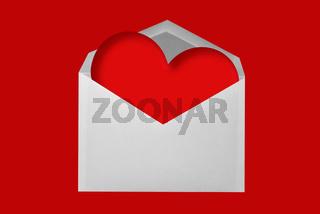 Briefumschlag mit Herz
