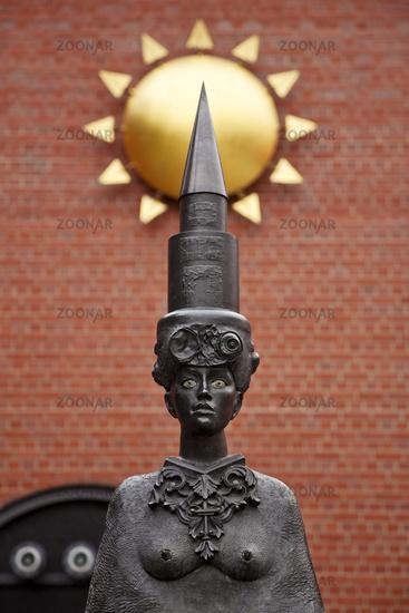 Sculpture ensemble in front of the Augustinus House, artist Juergen Goertz, Gelsenkirchen, Germany