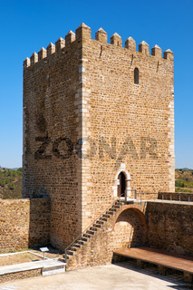 The keep tower of Mertola Castle. Mertola. Portugal