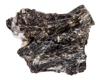 Gedrite stone isolated on white background