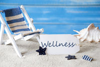 Summer Label With Deck Chair And Text Wellness