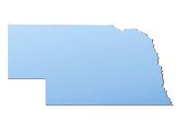 Nebraska(USA) map
