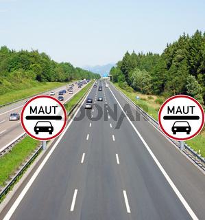 PKW Maut auf der Autobahn