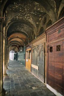 The arcade Venice, Italy