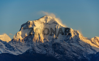 Dhaulagiri I at sunrise, Nepal