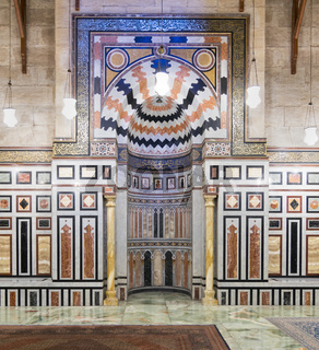 Mihrab at the tomb of the Reza Shah of Iran, Al Rifaii Mosque, Cairo, Egypt