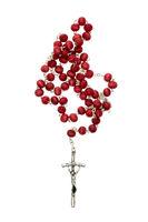 Rosary isolated on white background