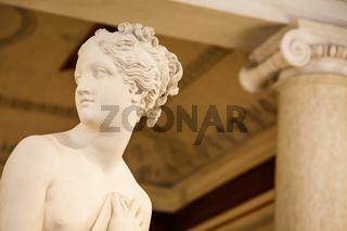 VENICE, ITALY - JUNE 27, 2016: Venus Statue detail in Palazzo Ducale museum