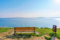 Bench with scenic view
