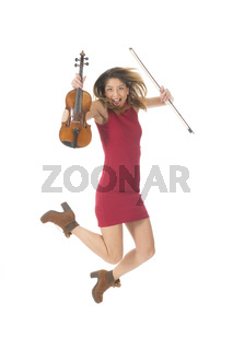 Jumping high with violin