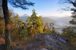 Thuermsdorf Johann Alexander Thiele Aussicht im Elbsandsteingebirge - Thuermsdorf Johann Alexander Thiele Aussicht in the Elbe sandstone mountains