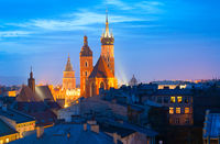 Krakow Old Town at twilight