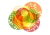 Shiny sparkling graphic design with circles