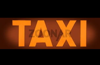 Taxi Light Sign
