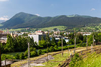 View of the industry area in Ruzomberok in Slovakia