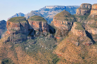 Three Rondavels an der Panorama Route, Mpumalanga, Südafrika, Three Rondavels at Panorama route in South Africa