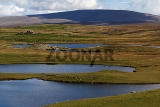 Landscape with Ronas Hill, Mainland, Shetland Islands, Scotland