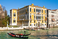 Cavalli Franchetti palace at Great channel of Venice, Italy