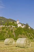 Hay harvest in South Tyrol