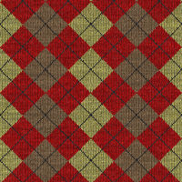 seamless texture of knitted wool gingham squares in red