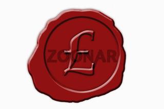 Siegel britisches Pfund   seal pound, British currency