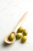 The green olives.