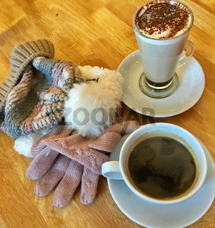 Warm drinks on a winters day