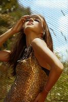 beautiful woman in summer sun
