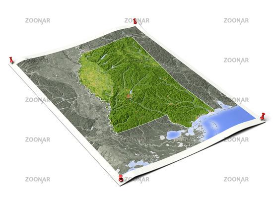 Mississippi on unfolded map sheet.