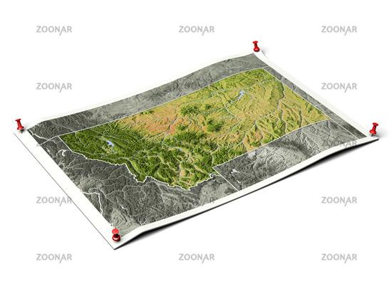 Montana on unfolded map sheet.