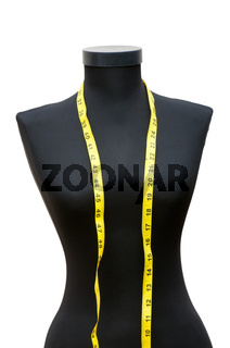 Meter and mannequin isolated on the white