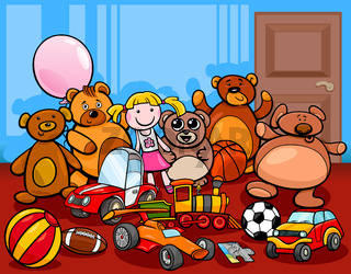 toys group cartoon illustration