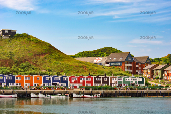 Helgoland's colorful houses