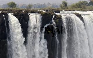 Victoria Wasserfaelle,  Detailaufnahme, Victoria Falls, Simbabwe, Afrika, africa