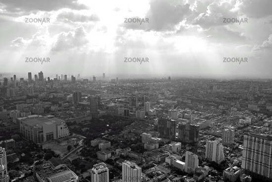 Look from the Baiyoke tower, topmost building of Thailand, Bangkok, Thailand, Asia