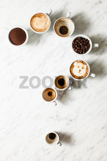 Coffee cup assortment