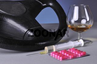 Nicht autofahren unter Drogen- und Alkoholeinfluss