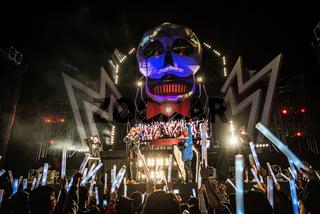 Seoul, South Korea - October 12, 2013 : Everland music concert scene in Everland Resort