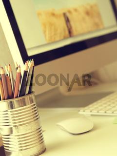 Workspace of a creative