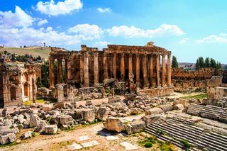 Ruins of Bacchus temple. Baalbek, Lebanon