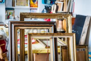 Old paintings frames