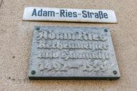 Adam Ries panel in Annaberg