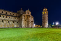 Basilica and the leaning tower in Pisa Italy