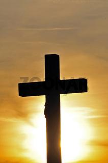 Feldkreuz mit Christusfigur, Schwäbische Alb, Baden-Württemberg, Deutschland, Europa