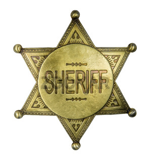 Isolated Vintage Sheriff Badge