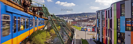 Suspension Railway and Junior University, Wuppertal, North Rhine-Westphalia, Germany, Europe
