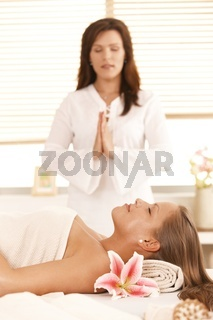 Oriental massage in day spa