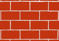 Fresh Built Brick Wall