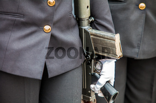 Militärparade in Port Elizabeth Südafrika