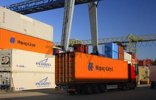 Im Containerterminal, Frenkendorf, Schweiz